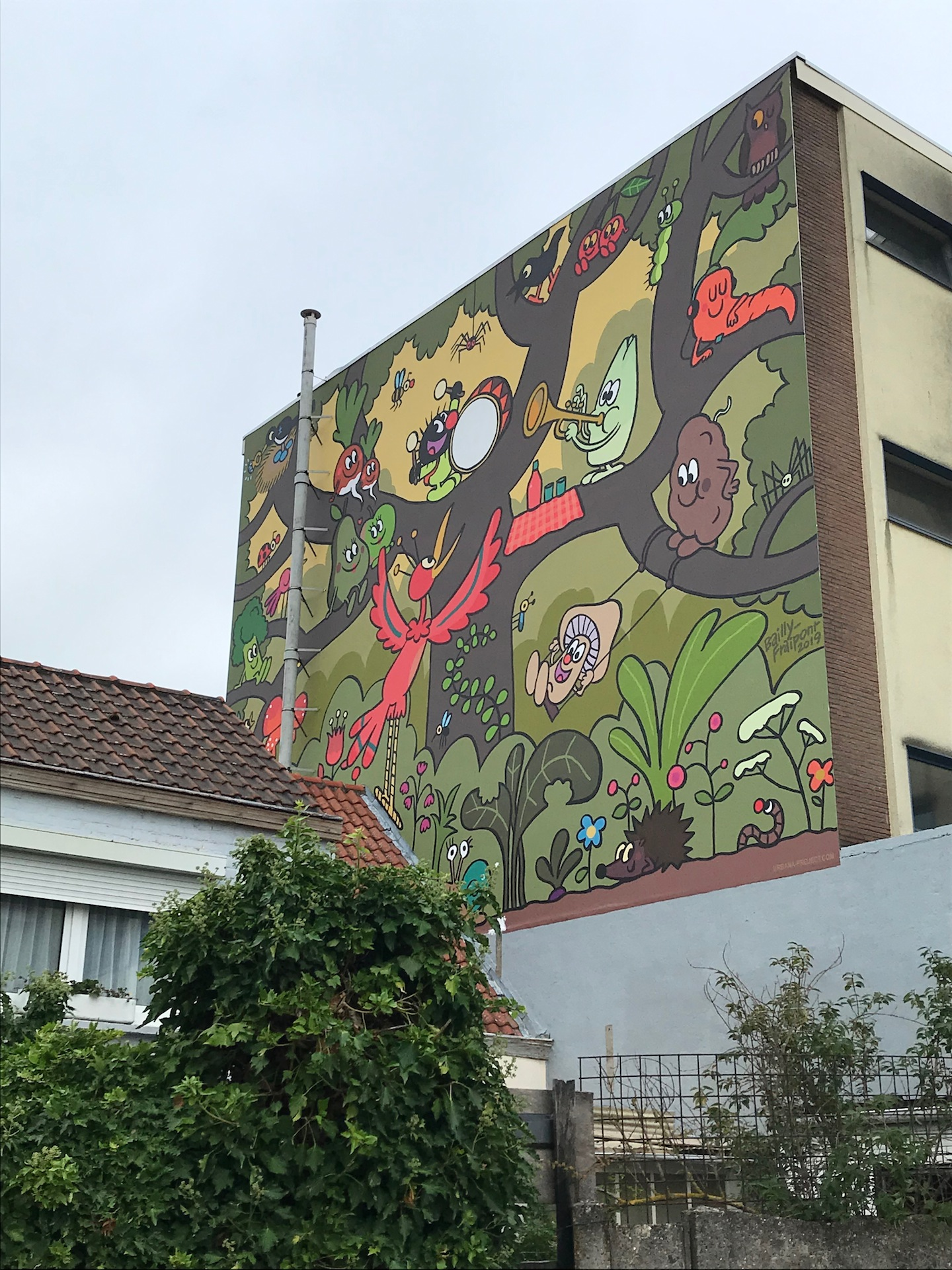 Fresque petit poilu Haren - Rue de la paroisse