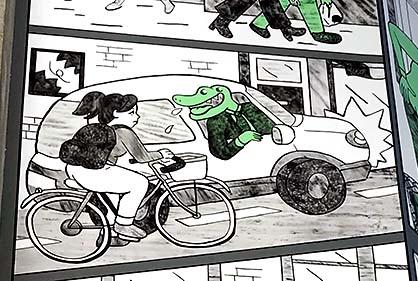 Les crocodiles - Fresque bd